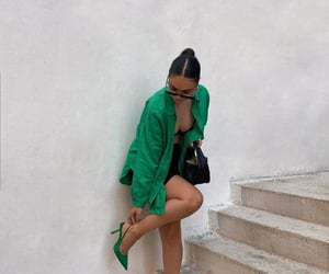 chic, fashion, and green image