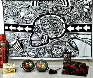 etsy, hippie tapestries, and skull tapestry image