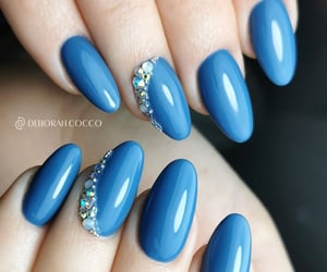 blue, nail art, and manicure nails image