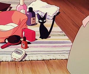 anime, black cat, and jiji image