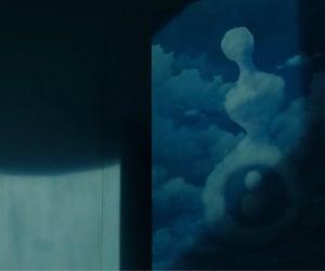 art, blue, and screencaps image