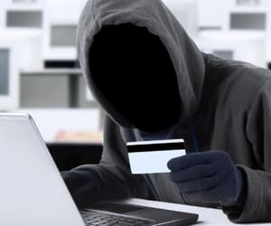 hacker, data breach, and identity theft image