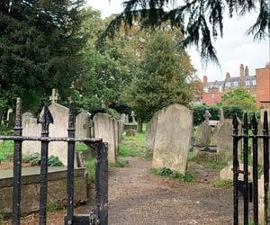 autumn, cemetery, and Halloween image