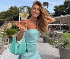 summer time, wine, and summer girl image