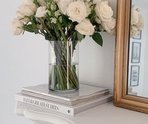 book, design, and flower image