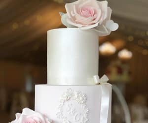 bridal, weddings, and pale pink wedding cake image
