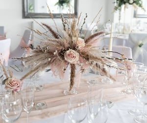 bridal, wedding reception, and pink wedding theme image