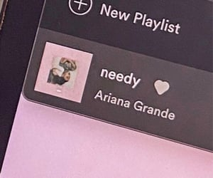 aesthetic, spotify, and needy image