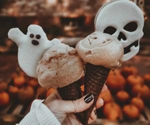 autumn, ice cream, and food image