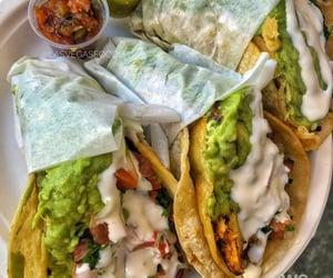 tacos, avocado, and burrito image