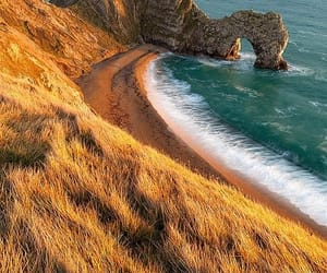 ocean, beach, and england image
