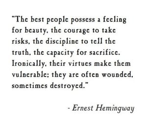 ernest hemingway, tell the truth, and capacity for sacrifice image