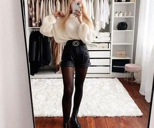 black, mode, and Blanc image
