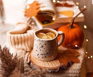 autumn, tea, and autumnal image