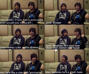 alex gaskarth, bieber, and all time low image