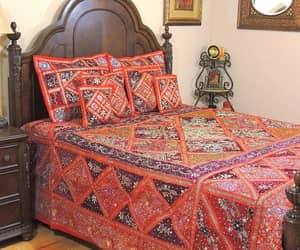 etsy, bohemian tapestry, and patchwork bed cover image