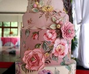 wedding cakes and floral wedding cake image