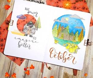 autumn, doodle, and hogwarts image