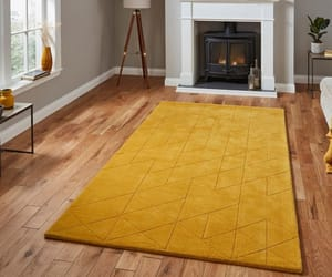 rugs, wool rugs, and yellow image