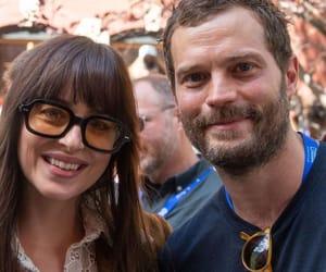books, couple, and Jamie Dornan image
