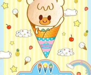 anime, ice cream, and rainbow image