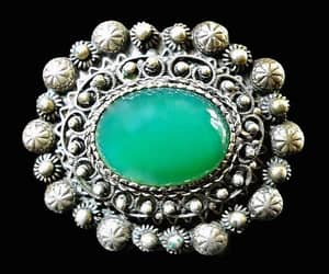 etsy, green gemstone, and gemstone brooch image