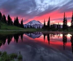 beautiful places, clouds, and lake image