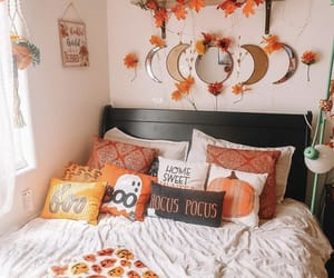 autumn, bedroom, and decor image