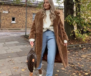 cold, mom jeans, and fashion blogger image