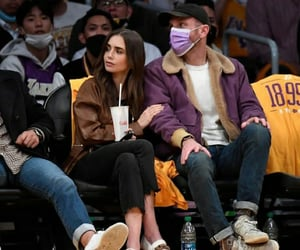 couple and lily collins image