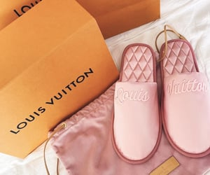 girl, pink, and vuitton image