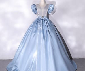 ball gown, cinderella, and crystal image