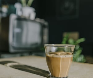 coffee, drink, and glass image