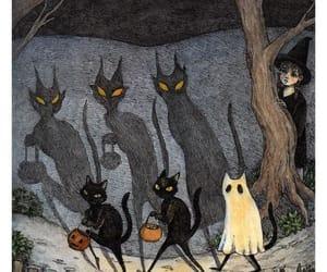 cat, dark, and ghost image