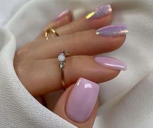 nail art, manicure nails, and lilac & pink shades image