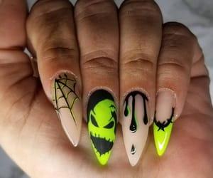 nail art, manicure nails, and halloween nails image