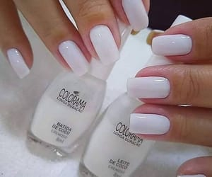 nail art, manicure nails, and white vibes image