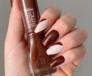 nail art, manicure nails, and gloss finish image