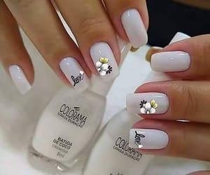bridal, nail art, and manicure nails image