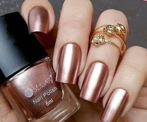 nail art, manicure nails, and rose gold nails image