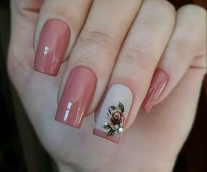 nail art, manicure nails, and floral detail image