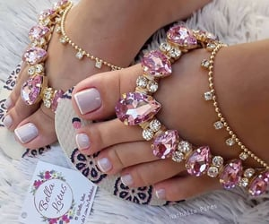 nail art, pedicure, and sparkly image