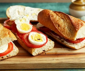 Simple yet Delicious Egg and Tomato Baguette.