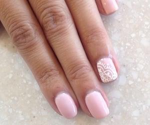 nail art, manicure nails, and pink nails image