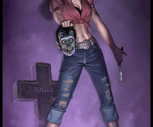 rockabilly, zombie, and vintage image