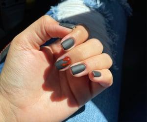 Dexter, gel nails, and matte nails image