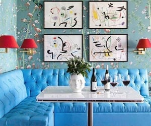 blue, interiors, and table image