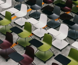 chairs, seats, and classroom image