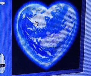 dark blue, heart, and pc image