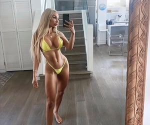 abs, blonde, and exercise image